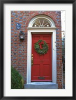 Framed Red Door 117