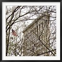 Framed Veiled Flatiron Building (detail)