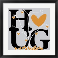 Hug (Fall) Framed Print