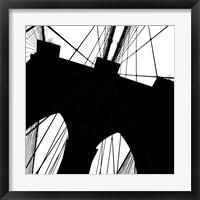 Framed Brooklyn Bridge Silhouette (detail)
