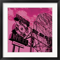 Cotton Candy Wonder Wheel Framed Print