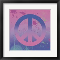 Psychedelic Peace Framed Print