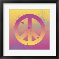 Far-out Peace Framed Print