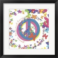 Peace, Love, and Harmony Framed Print