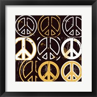 Peace Mantra (Yellow) Framed Print