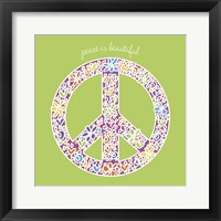 Peace is Beautiful Framed Print