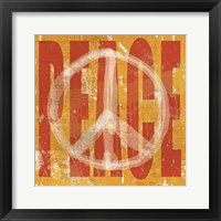 Think Peace Framed Print