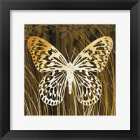 Framed Butterflies & Leaves II