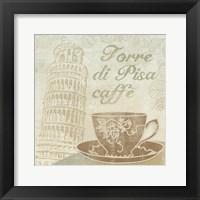 Caffe Pisa Framed Print