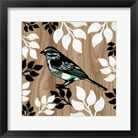 Bird Patchwork I Framed Print