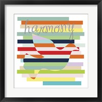Dove Rainbow Framed Print
