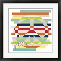 Peace Rainbow Framed Print