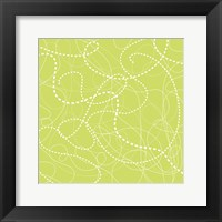 Dashes Green Framed Print