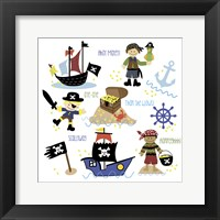 Pirates & Ships Framed Print