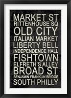 Philly Framed Print