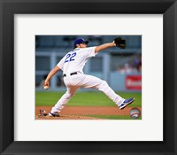 Framed Clayton Kershaw 2015 Action