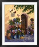 Framed Cobblestone Flowers