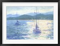 Framed Northshore Sailboat