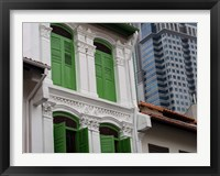 Framed Modern Buildings and Older Ones in Singapore