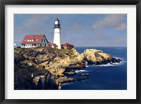 Framed Coastal Lighthouse