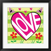 Love Garden Framed Print