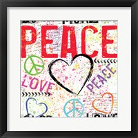 Love and Peace 2 Framed Print
