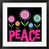 Peace Flowers Framed Print