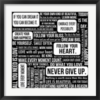Never Give Up 7 Framed Print