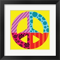 Peace Collage Framed Print