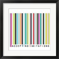 Accept No Imitations Framed Print