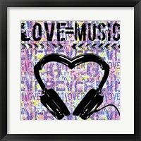 Love - Music 1 Framed Print