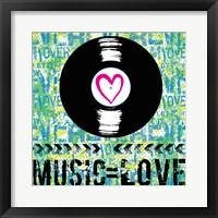 Love - Music 2 Framed Print