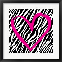 Framed Zebra Love