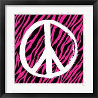 Zebra Peace Framed Print