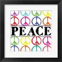 Peace Sharpie 2 Framed Print