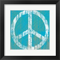 Aqua Peace Framed Print