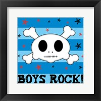 Boys Rock Framed Print