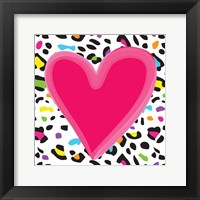 Leopard Heart 1 Framed Print