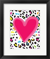 Framed Leopard Heart 2