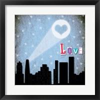 Love Skyline Framed Print