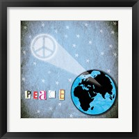 Peace Earth Framed Print