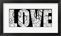 Framed Love Graffiti