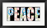 Peace Graffiti - Color Framed Print