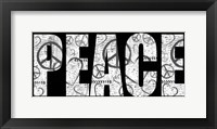 Peace Graffiti Framed Print