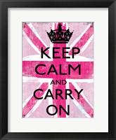 Keep Calm And Carry On 2 Framed Print