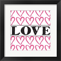 Love - Pink Sharpie Framed Print
