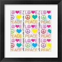 Peace Love 1 Framed Print