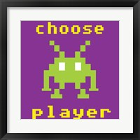 Choose Player Framed Print