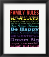 Family Rules 4 Framed Print