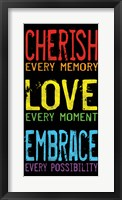 Cherish Love Embrace 2 Framed Print